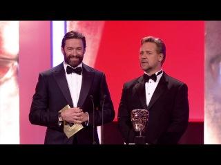 Хью Джекман и Рассел Кроу на 2012 BAFTA